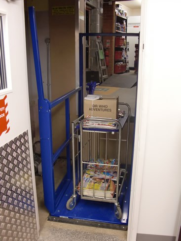 Goods Lift, Installed at One Stop Shop 26-28 Town Green, Wymondham, Norfolk