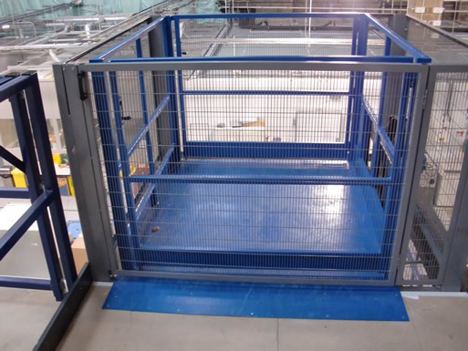 Mezzanine Floor Lift, Goods Lift, installed at Fisher BioServices UK, Bishops Stortford, Herts