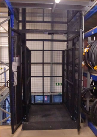 200kg Mezz Lift, to service three levels, for Wiggle Ltd
