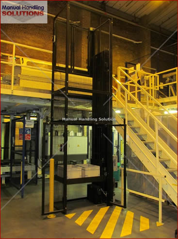 Goods Lift - Waist Height – Hand Loaded, with a lift Capacity 250kg SWL