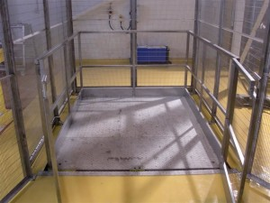 Mezzanine Floor Lift, Goods Lift, installed at Magna Specialist Confectioners Ltd, Telford