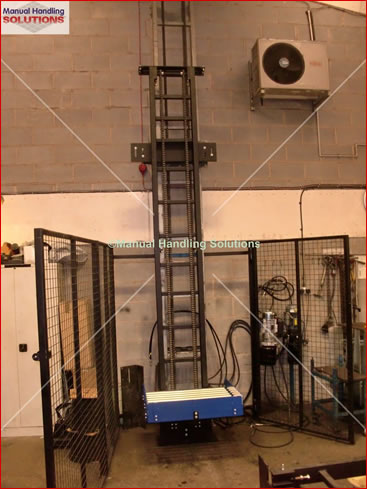 Cellar Lift 275kg Vertical Chain Drive