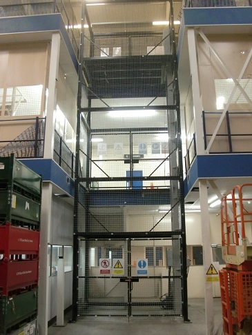 1000kg SWL Goods Lift installed in Birmingham