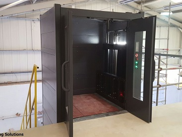 Cladded 1000kg Mezzanine Floor Goods Lift