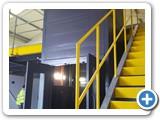 1000kg Cladded Structure Mezzanine Goods Lift