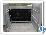 goods lift upper level buffer over run galvanized